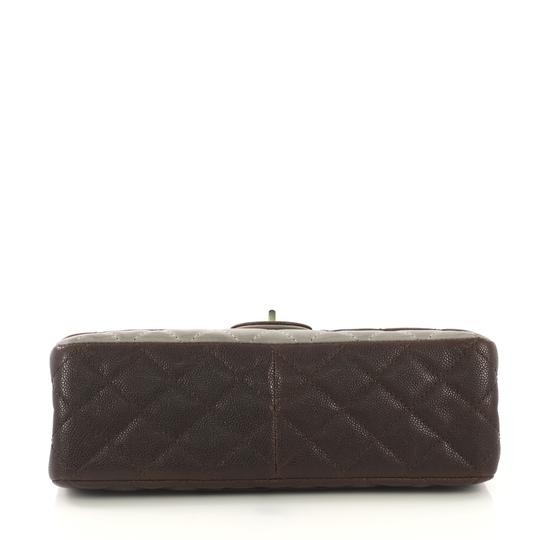 Chanel Reissue Quilted Satchel in Brown and Gray Image 4