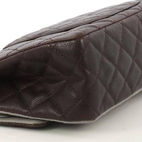 Chanel Reissue Quilted Satchel in Brown and Gray Image 6