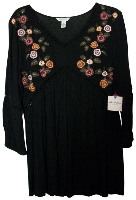 Preload https://img-static.tradesy.com/item/25537267/arizona-black-multicolor-tunic-with-embroidered-flowers-large-by-blouse-size-12-l-0-1-650-650.jpg