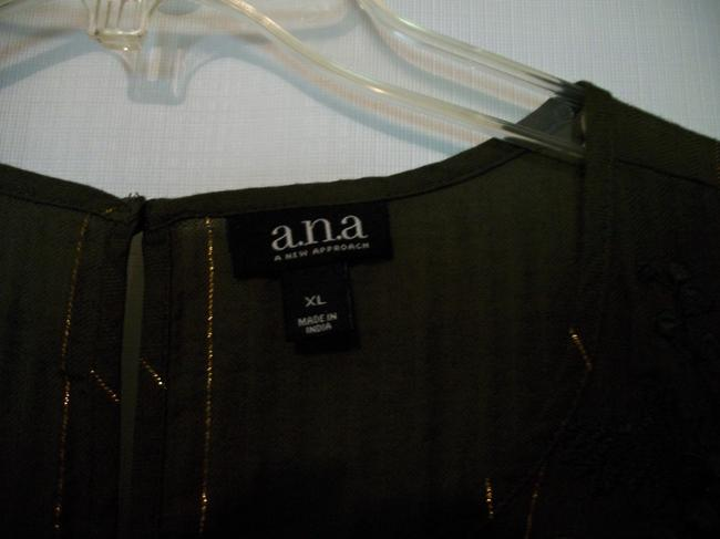 a.n.a. a new approach Sleeveless Sleeveless Ruffle Embroidered Top Green Image 4