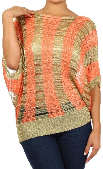 Preload https://img-static.tradesy.com/item/25537306/women-s-crochet-red-gold-sweater-0-1-650-650.jpg