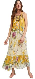 Yellow Multi Maxi Dress by one.september Summer Animal Print