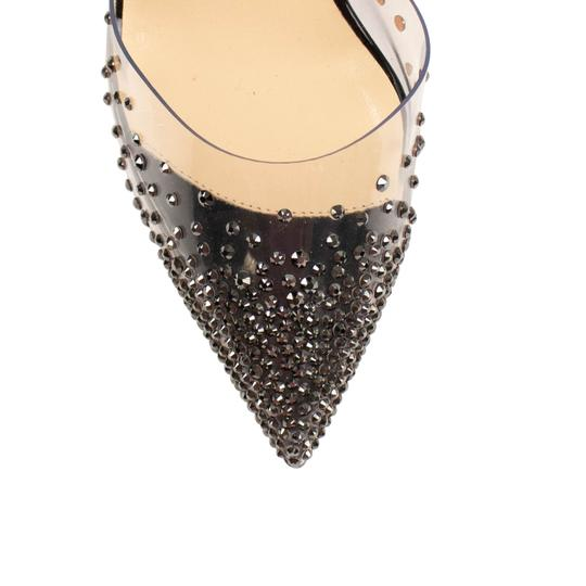 Christian Louboutin Pointed Toe Stiletto Crystal Black Pumps Image 4