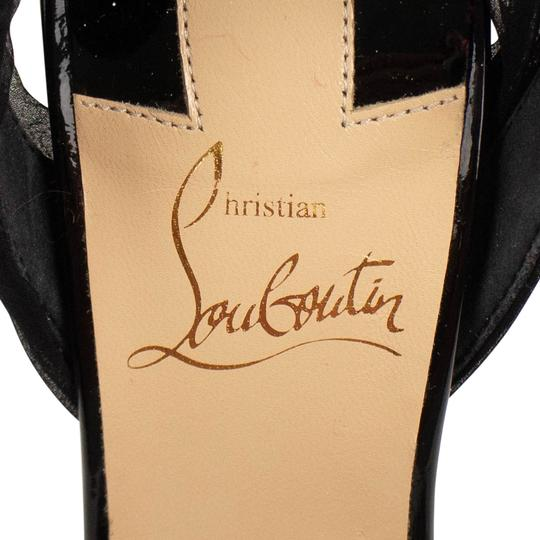 Christian Louboutin Pointed Toe Stiletto Crystal Black Pumps Image 5