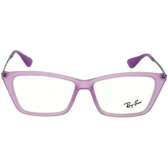 Ray-Ban RX7022-5367-52 Rectangle Women's Violet Frame Clear Lens Eyeglasses NW Image 1