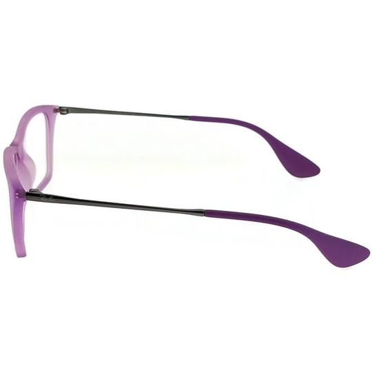 Ray-Ban RX7022-5367-52 Rectangle Women's Violet Frame Clear Lens Eyeglasses NW Image 2