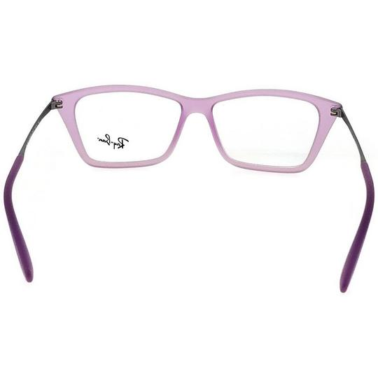 Ray-Ban RX7022-5367-52 Rectangle Women's Violet Frame Clear Lens Eyeglasses NW Image 3