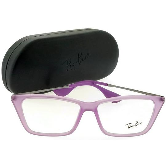 Ray-Ban RX7022-5367-52 Rectangle Women's Violet Frame Clear Lens Eyeglasses NW Image 4
