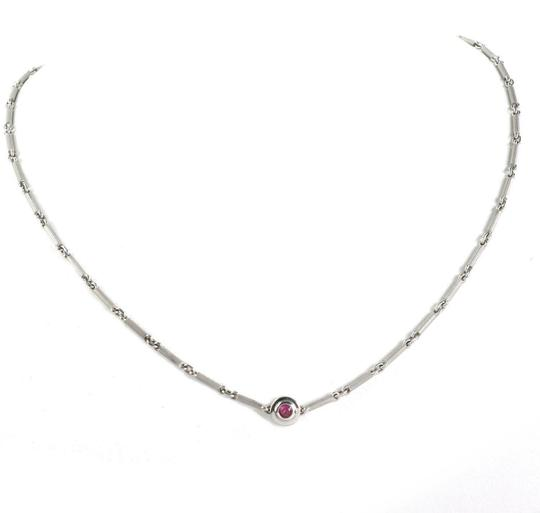 Tiffany & Co. Picasso Diamond & Pink Sapphire 18k Gold Reversible Necklace Image 2