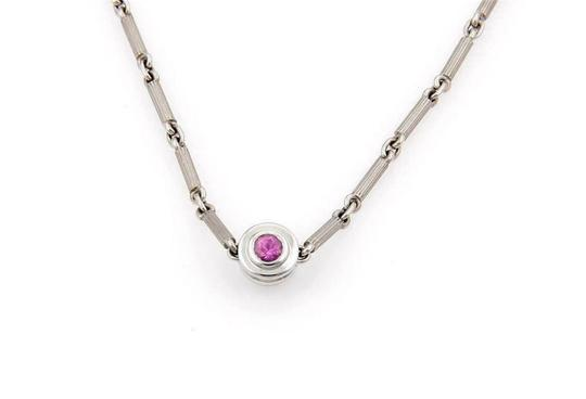 Tiffany & Co. Picasso Diamond & Pink Sapphire 18k Gold Reversible Necklace Image 4