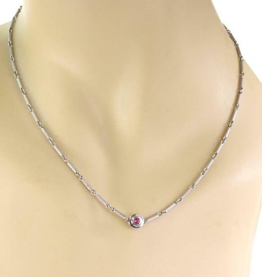 Tiffany & Co. Picasso Diamond & Pink Sapphire 18k Gold Reversible Necklace Image 5