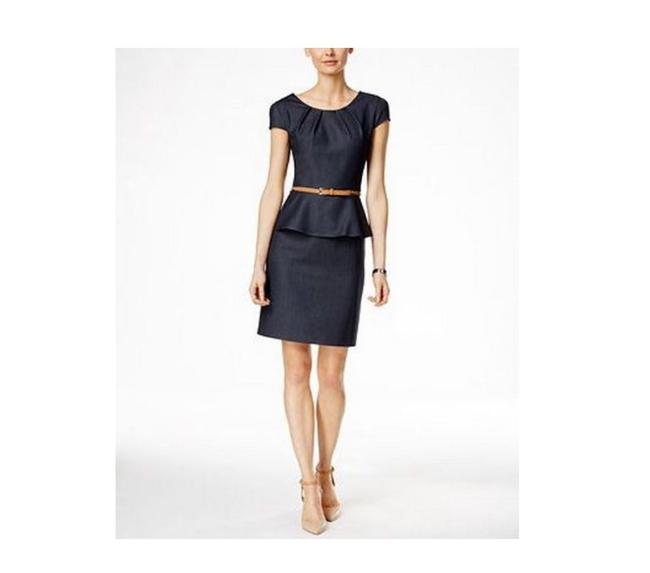 Preload https://img-static.tradesy.com/item/25537431/navy-blue-belted-peplum-sheath-mid-length-formal-dress-size-petite-6-s-0-0-650-650.jpg