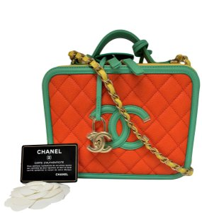 Chanel Luxury Fascinante Nice Gold Date Night Cross Body Bag