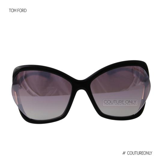 Tom Ford New Tf Astrid-02 FT579 01Z Women Violet Mirror Square Oversized Suns Image 3