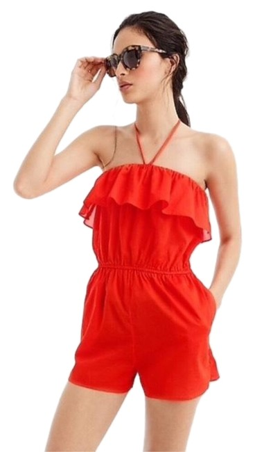 Item - Red Ruffled Romper Cover-up/Sarong Size 16 (XL, Plus 0x)