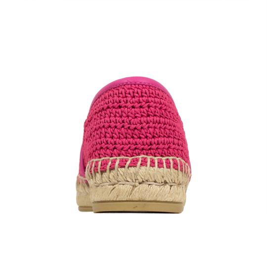 Gucci Logo Espadrille Pearl Woven Leather Pink Flats Image 6