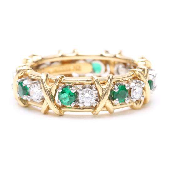 Preload https://img-static.tradesy.com/item/25537911/tiffany-and-co-yellow-gold-jean-schlumberger-emerald-diamond-18k-platinum-ring-0-0-540-540.jpg