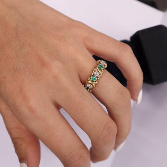 Tiffany & Co. Jean Schlumberger Emerald Diamond 18K Platinum Image 2