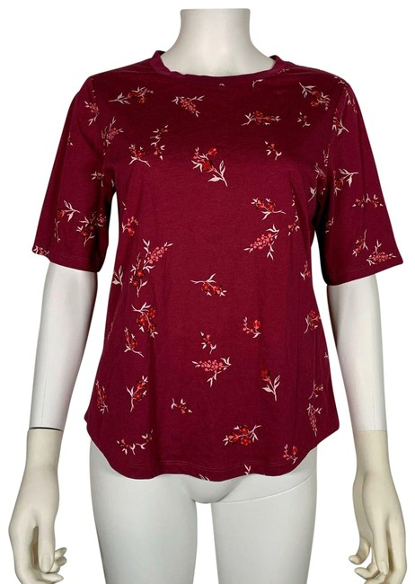 Preload https://img-static.tradesy.com/item/25537922/lauren-ralph-lauren-red-blouse-floral-short-sleeve-cotton-m-tank-topcami-size-8-m-0-1-650-650.jpg