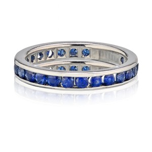 Tiffany & Co. Sapphire Round Eternity Band Width 3mm