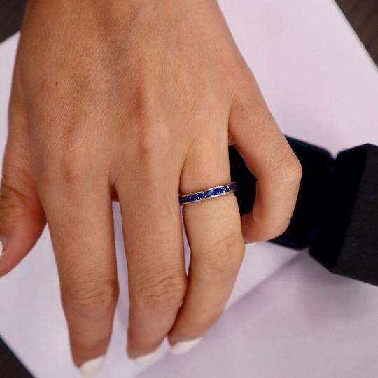 Tiffany & Co. Sapphire Round Eternity Band Width 3mm Image 2