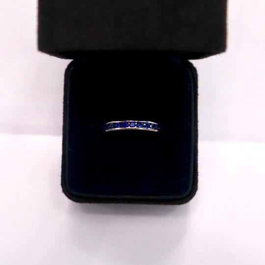 Tiffany & Co. Sapphire Round Eternity Band Width 3mm Image 4