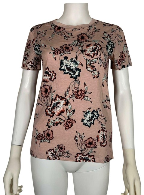 Preload https://img-static.tradesy.com/item/25537978/lauren-ralph-lauren-pink-floral-short-sleeve-cotton-women-s-blouse-size-4-s-0-1-650-650.jpg