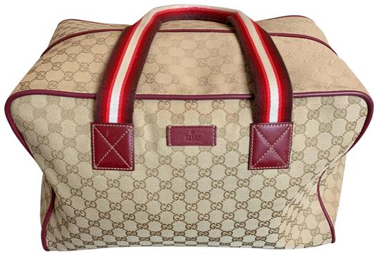 Preload https://img-static.tradesy.com/item/25538016/gucci-duffle-brown-canvas-with-leather-trimming-weekendtravel-bag-0-1-540-540.jpg