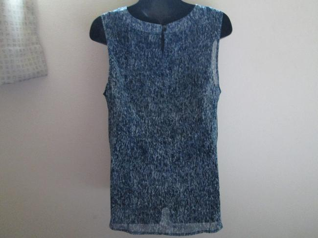 Ann Taylor Ruffled Teal Sheer Spring Summer Top Multicolored Image 1