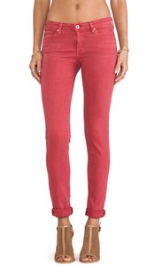 AG Adriano Goldschmied Stilt Straight Pants Pink