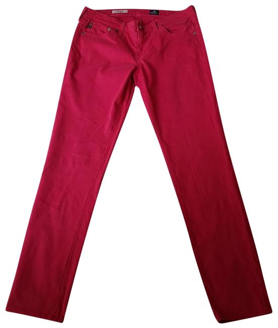 AG Adriano Goldschmied Stilt Straight Pants Pink Image 1