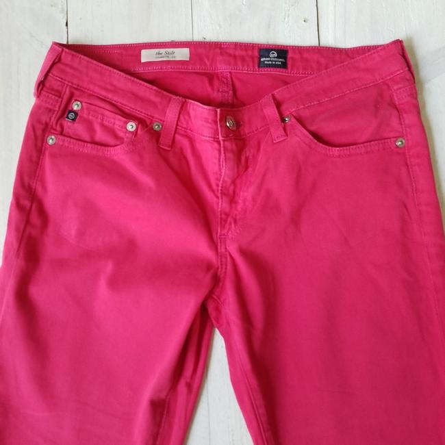 AG Adriano Goldschmied Stilt Straight Pants Pink Image 2