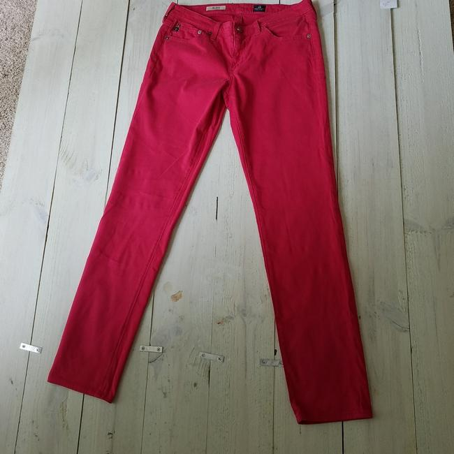 AG Adriano Goldschmied Stilt Straight Pants Pink Image 3