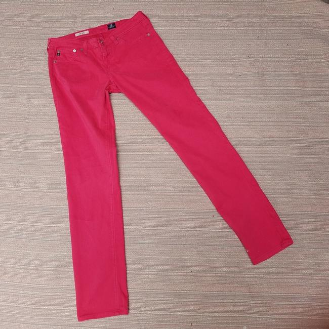 AG Adriano Goldschmied Stilt Straight Pants Pink Image 4
