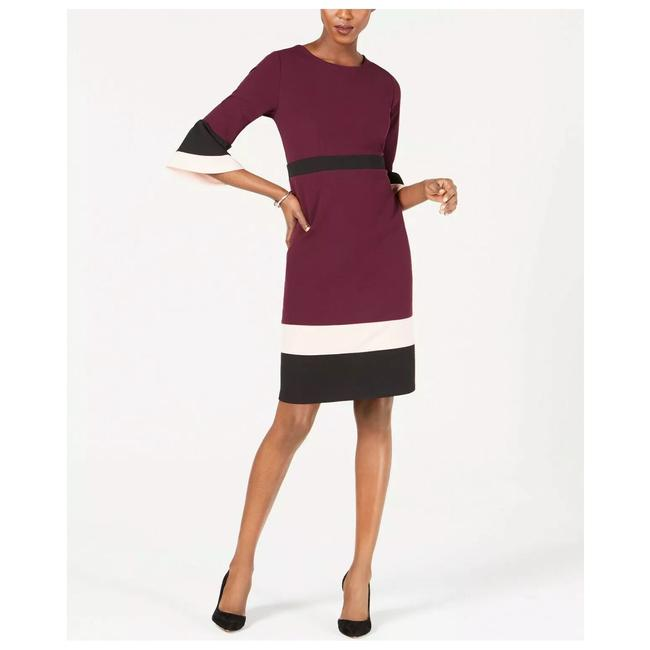 Preload https://img-static.tradesy.com/item/25538098/ny-collection-grape-colorblocked-bell-sleeves-short-workoffice-dress-size-petite-2-xs-0-0-650-650.jpg