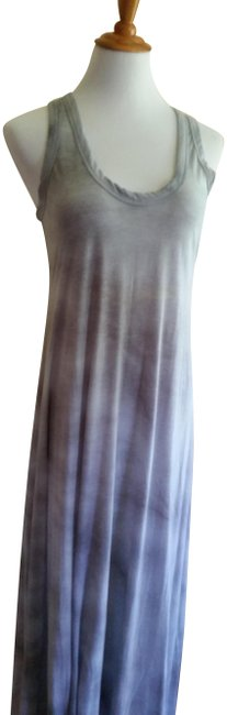Item - Grey Two-toned Long Casual Maxi Dress Size 4 (S)
