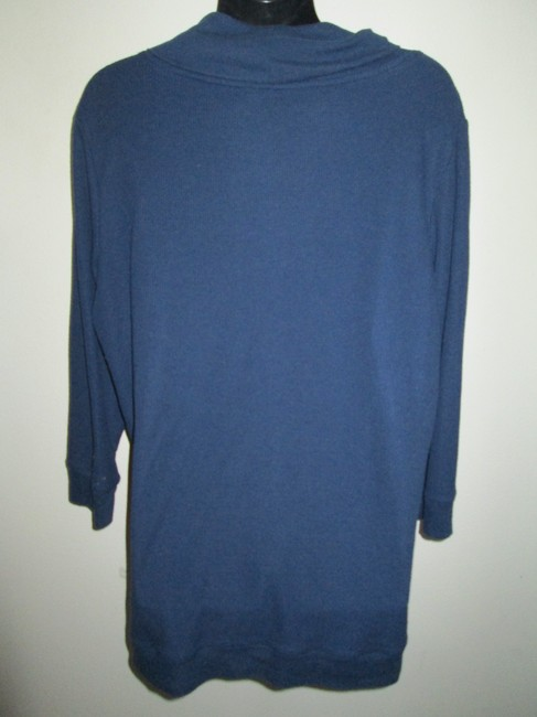 Faded Glory Thermal Fall Winter Warm Casual Top Blue Image 2
