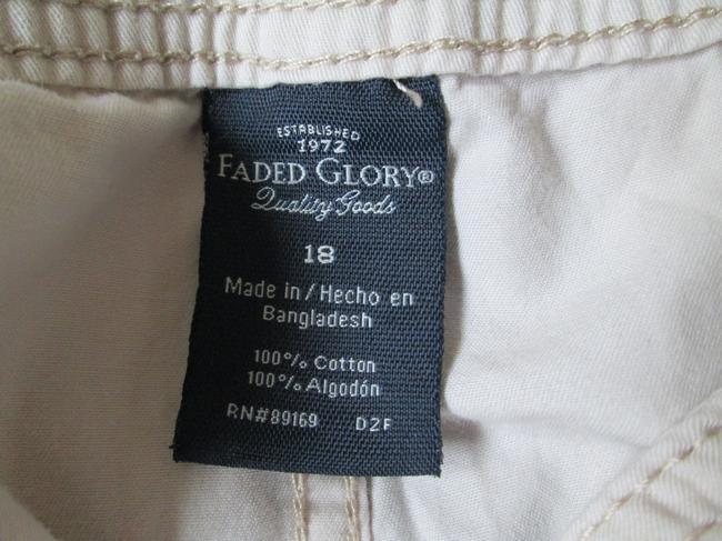 Faded Glory Khaki Xl Spring Summer Capri/Cropped Pants Beige Image 1
