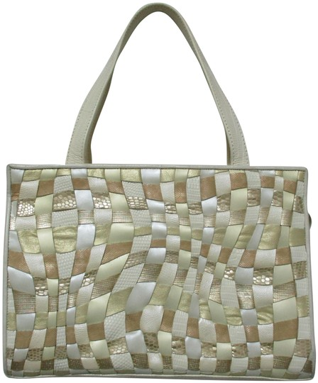 Preload https://img-static.tradesy.com/item/25538271/sharif-bag-vintage-woven-snake-embossed-zip-purse-ivory-gold-bronze-leather-tote-0-1-540-540.jpg