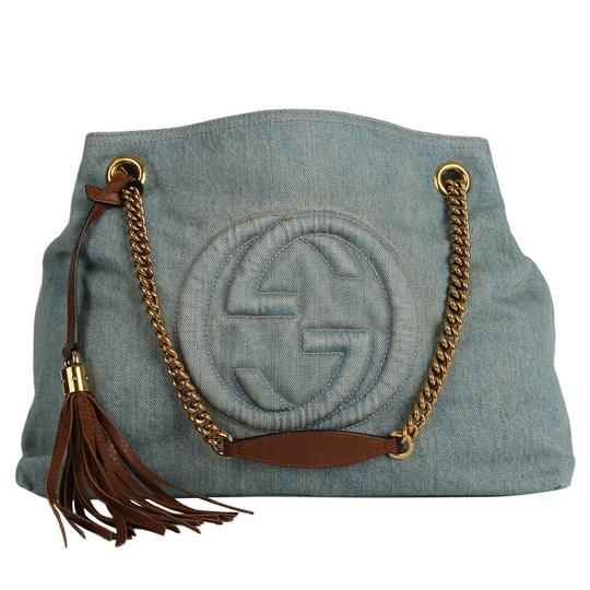Gucci Gg Monogram Tassel Handbag Hobo Bag Image 1