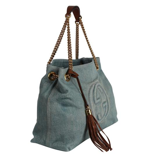 Gucci Gg Monogram Tassel Handbag Hobo Bag Image 3