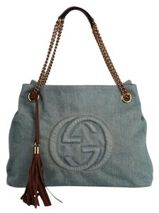 Gucci Gg Monogram Tassel Handbag Hobo Bag