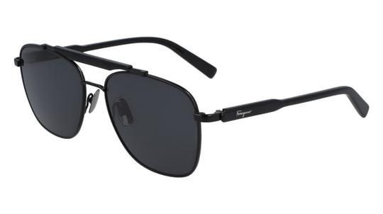 Salvatore Ferragamo SALVATORE FERRAGAMO SF198S-001-5616 BLACK / GREY SUNGLASSES Image 2