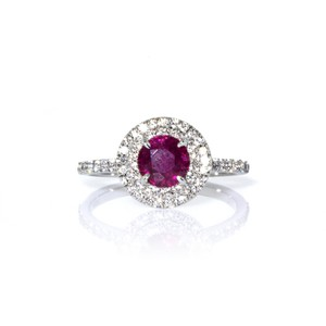 Tiffany & Co. Tiffany & Co. Platinum Soleste Diamond and Ruby Ring