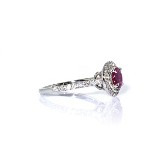 Tiffany & Co. Tiffany & Co. Platinum Soleste Diamond and Ruby Ring Image 2