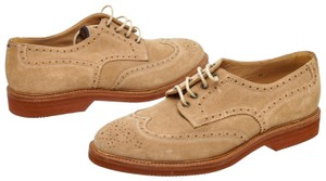 Brunello Cucinelli Oxford Wingtip Suede Tan Flats