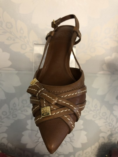 Tory Burch Kitten Strappy Tb Brown Pumps Image 1
