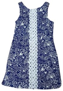 Lilly Pulitzer for Target short dress Blue and white Tropical on Tradesy