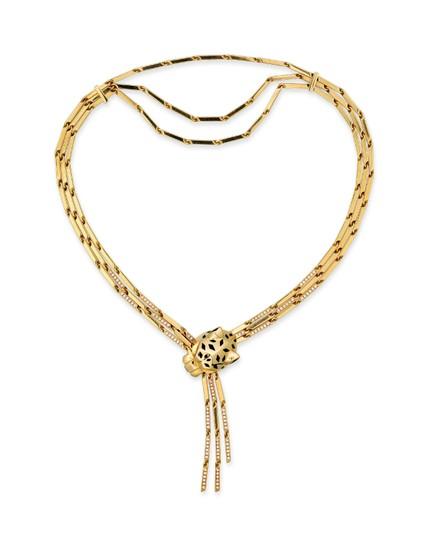 Cartier Panthere Head Diamond Lacquer Spots Strand Image 2