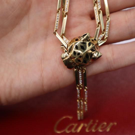 Cartier Panthere Head Diamond Lacquer Spots Strand Image 4
